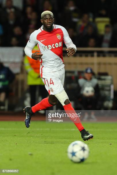 Tiemoue Bakayoko of Monaco controls the ball during the UEFA Champions League quarter final second leg match between AS Monaco and Borussia Dortmund...