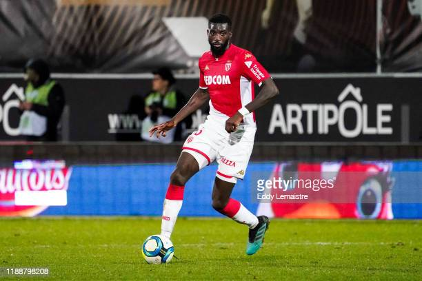 Tiemoue BAKAYOKO of Monaco during the Ligue 1 match between Angers and Monaco at Stade Raymond Kopa on December 14, 2019 in Angers, France.
