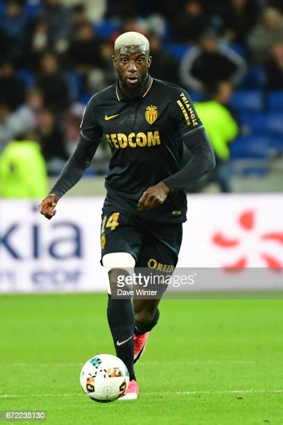 Tiemoue Bakayoko of Monaco during the Ligue 1 match between Olympique Lyonnais and AS Monaco at Stade des Lumieres on April 23 2017 in...