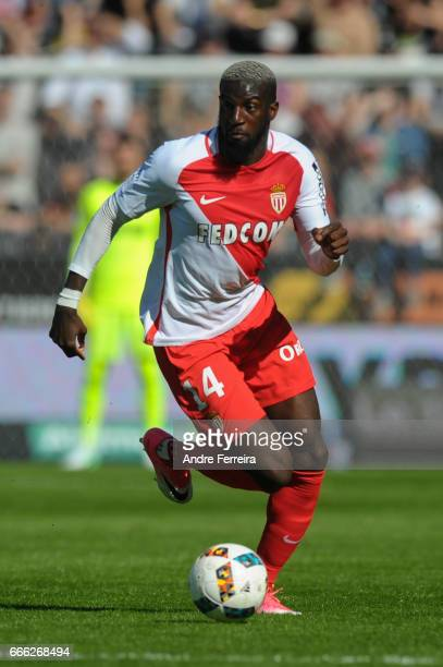 Tiemoue Bakayoko of Monaco during the Ligue 1 match between SCO Angers and AS Monaco on April 8 2017 in Angers France