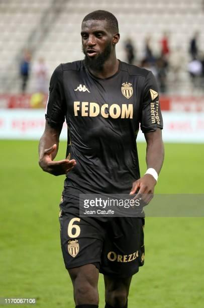 Tiemoue Bakayoko of Monaco following the Ligue 1 match between Stade de Reims and AS Monaco at Stade Auguste Delaune on September 21, 2019 in Reims,...