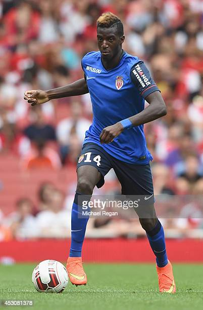 Tiemoue Bakayoko of Monaco in action during the Emirates Cup match between Valencia and AS Monaco at the Emirates Stadium on August 2 2014 in London...