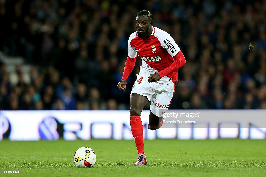 Tiemoue Bakayoko of Monaco in action during the French Ligue 1 match between Toulouse and Monaco at Stadium on October 14, 2016 in Toulouse, France.
