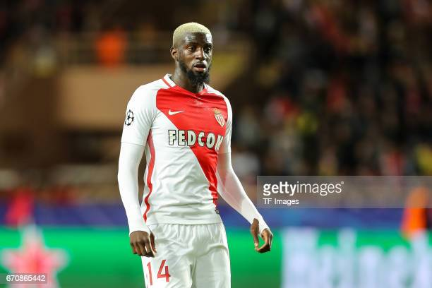 Tiemoue Bakayoko of Monaco looks on during the UEFA Champions League quarter final second leg match between AS Monaco and Borussia Dortmund of...