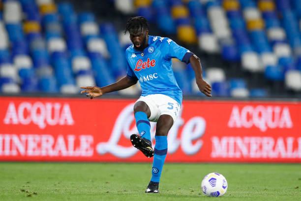 Tiemoue Bakayoko of SSC Napoli controls the ball during the Serie A match between SSC Napoli and Hellas Verona FC at Stadio Diego Armando Maradona on...