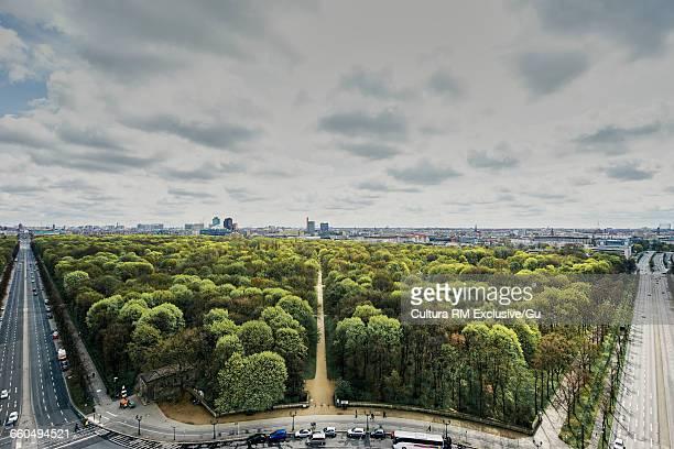 Tiergarten viewed from Victory Column, Berlin, Germany