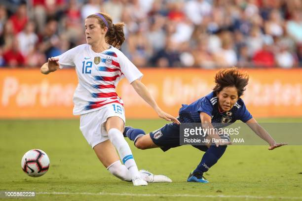 Tierna Davidson United States of America and Mana Iwabuchi of Japan during the 2018 Tournament Of Nations women's match between Japan v United States...