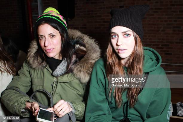 Tiernan Cowling at the Ulla Johnson show during New York Fashion Week at 477 Broadway on February 9 2017 in New York City