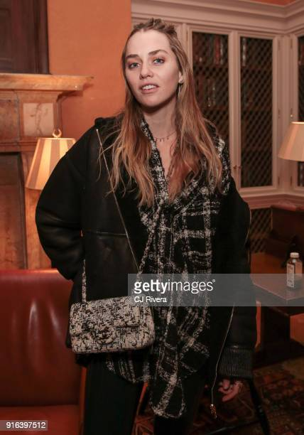 Tiernan Cowling attends the Edie Parker Presentation during New York Fashion Week at The Harvard Club on February 9 2018 in New York City