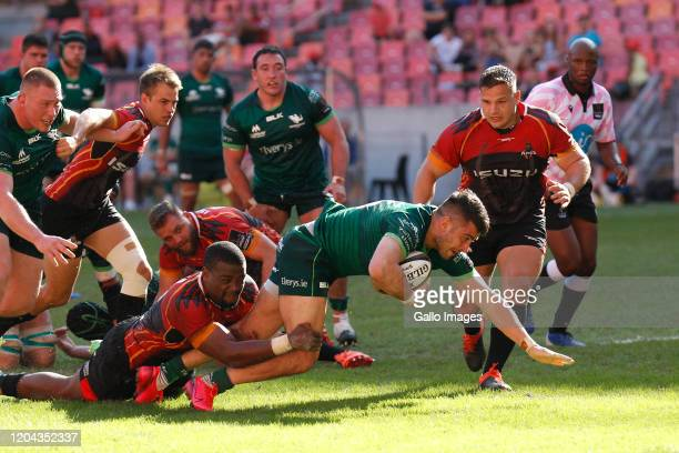 Tiernan O'Halloran Of Connacht during the Guinness Pro14 match between Isuzu Southern Kings and Connacht Rugby at Nelson Mandela Bay Stadium on March...