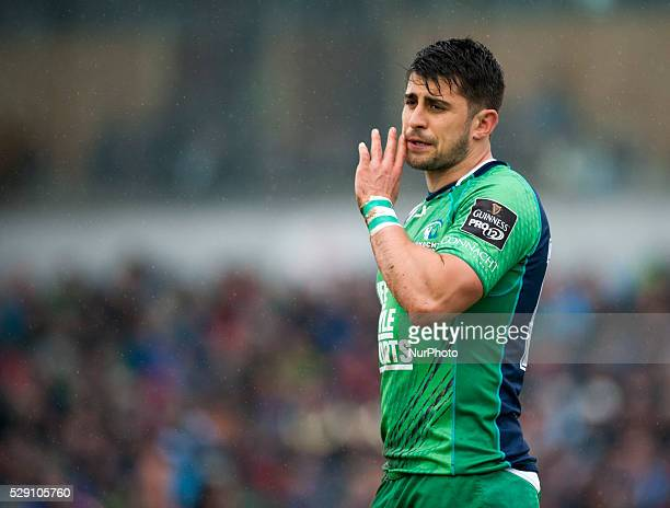 Tiernan O'Halloran of Connacht pictured during the Guinness PRO12 rugby match between Connacht Rugby and Glasgow Warriors at the Sportsground in...