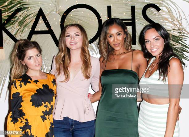 Tierney Bricker Lauren Zima Tayshia Adams and Tracy Shapoff attend the KAOHS Swim presents Beached S/S 2020 Runway Show at Casita Hollywood on August...