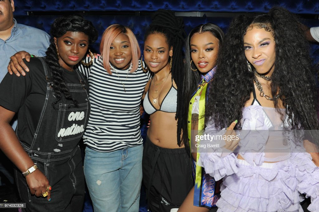 Tierra Whack, DJ Diamond Kuts, Bri Steves, Maliibu Miitch, and Rico Nasty attend the Atlantic Records 'Access Granted' Showcase on June 13, 2018 in New York City.
