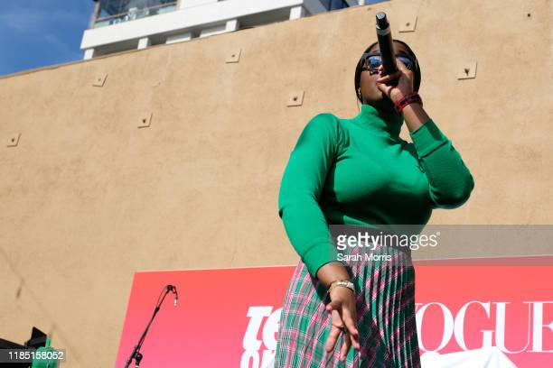 Tierra Whack performs at the 2019 Teen Vogue Summit at Goya Studios on November 02, 2019 in Hollywood, California.