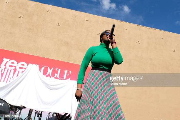 Tierra Whack performs at the 2019 Teen Vogue Summit at Goya Studios on November 02 2019 in Hollywood California