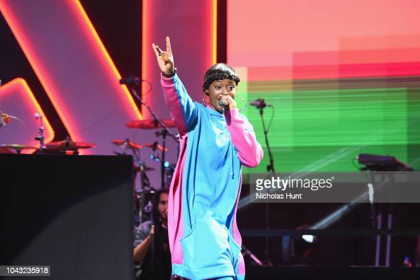 Tierra Whack performs onstage during Chance The Rapper to Headline Spotify's RapCaviar Live In Brooklyn in Partnership with Live Nation Urban and...
