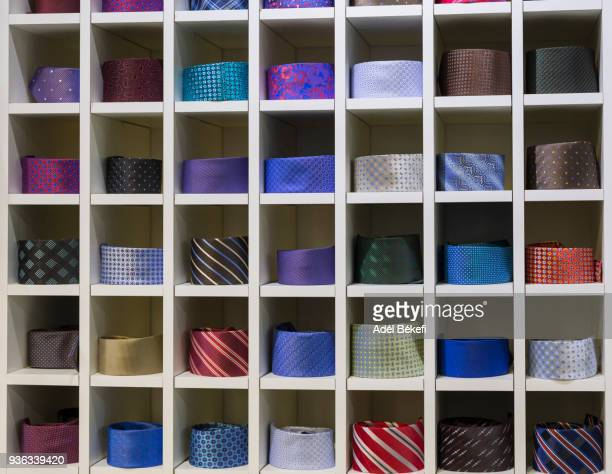 ties arranged in a shop display - neat stock pictures, royalty-free photos & images