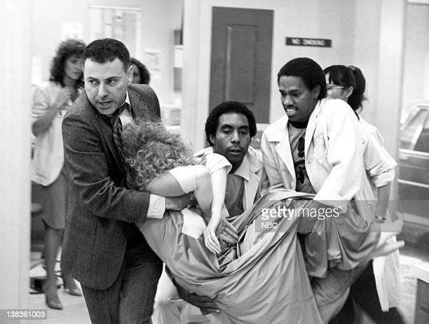 "Ties That Bind"" Episode 1 -- Pictured: Alan Arkin as Jerry Singleton, Patrie Allen as Janet Singleton, unknown, Eric Laneuville as Luther Hawkins"