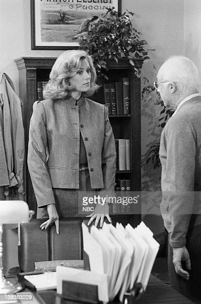 ST ELSEWHERE Ties That Bind Episode 1 Pictured Nancy Stafford as Joan Halloran Norman Lloyd as Dr Daniel Auschlander