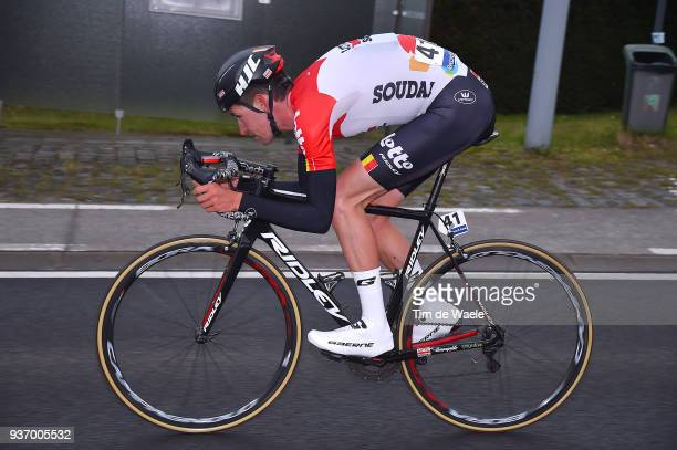Tiesj Benoot of Belgium and Team Lotto Soudal / during the 61st E3 Harelbeke 2018 a 206,4km race from Harelbeke to Harelbeke on March 23, 2018 in...