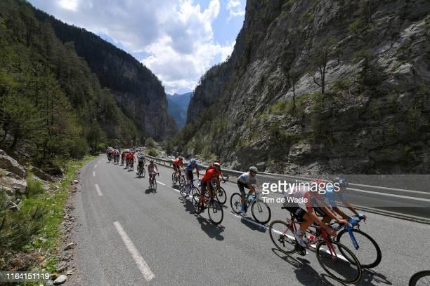 Tiesj Benoot of Belgium and Team Lotto Soudal / Imanol Erviti of Spain and Movistar Team / Alexey Lutsenko of Kazakhstan and Astana Pro Team /...