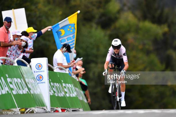 Tiesj Benoot of Belgium and Team Sunweb / during the 107th Tour de France 2020, Stage 20 a 36,2km Individual Time Trial stage from Lure to La Planche...