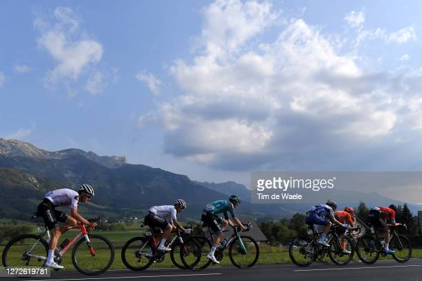 Tiesj Benoot of Belgium and Team Sunweb / Nicholas Roche of Ireland and Team Sunweb / Quentin Pacher of France and Team BB Hotels Vital Concept /...