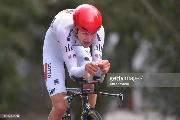 Tiesj Benoot of Belgium White Best Young Rider Jersey during the 53rd Tirreno-Adriatico 2018, Stage 7 a 10,5km Individual Time Trial stage in San...