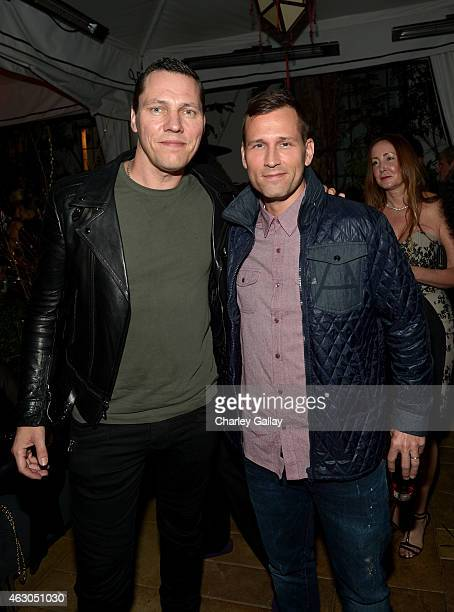 Tiesto and Kaskade attend the Warner Music Group annual Grammy celebration at Chateau Marmont on February 8 2015 in Los Angeles California