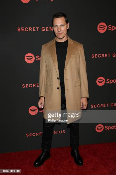 Tiesto attends Spotify's 2nd annual Secret Genius Awards at The Theatre at Ace Hotel on November 16 2018 in Los Angeles California
