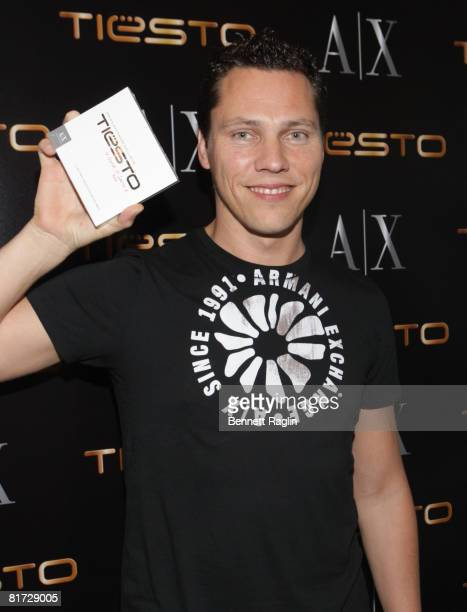 Tiesto attends Tiesto's special DJ set the at A|X Armani Exchange in Soho on June 26 2008 in New York City
