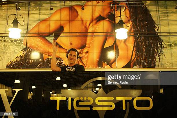 Tiesto plays a set the at A|X Armani Exchange in Soho on June 26 2008 in New York City