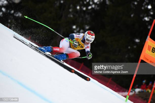 Tifany Roux of France competes during the Audi FIS Alpine Ski World Cup Women's Alpine Combined on February 23 2020 in Crans Montana Switzerland