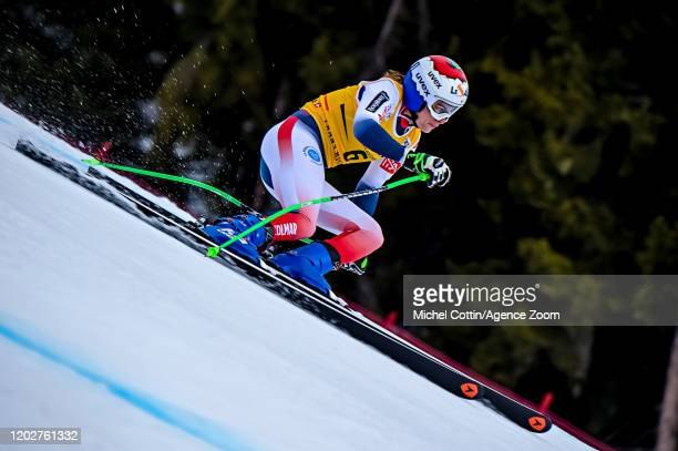Tifany Roux of France in action during the Audi FIS Alpine Ski World Cup Women's Alpine Combined on February 23 2020 in Crans Montana Switzerland