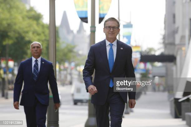 Tiff Macklem governor of the Bank of Canada arrives at the Bank of Canada building in Ottawa Ontario Canada on Monday June 22 2020 The Canadian...