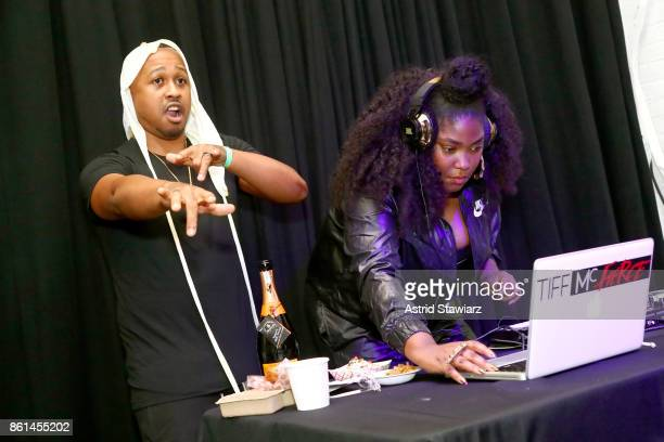 Tiff McFierce and a guest attend Street Eats hosted by Ghetto Gastro at Industria on October 14 2017 in New York City