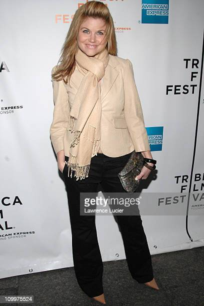 Tiffani Amber Thiessen during 4th Annual Tribeca Film Festival Layer Cake Premiere at Regal Cinemas in New York NY United States