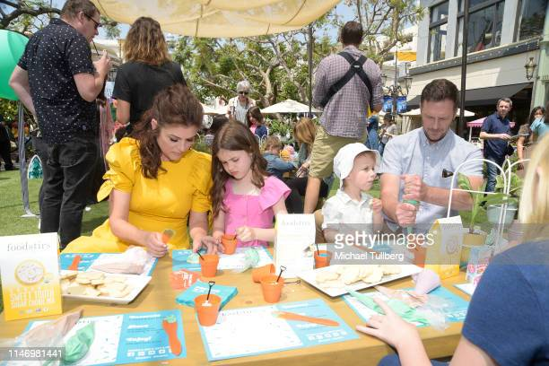 Tiffani Theissen Harper Renn Smith Holt Fisher Smith and Brady Smith attend a book signing event for their book You're Missing It at The Grove on May...