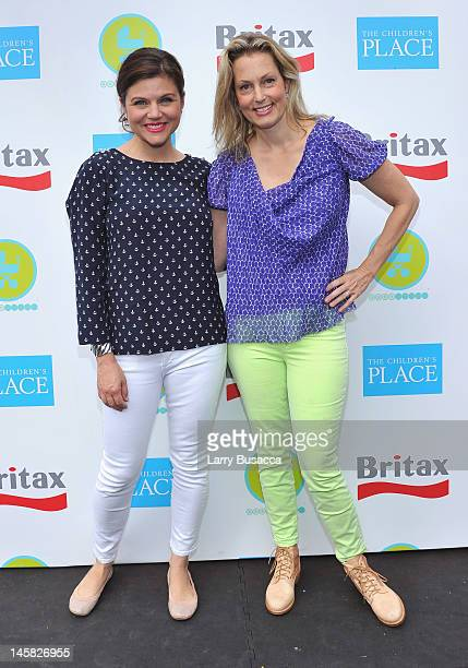Tiffani Thiessen and Ali Wentworth attend the 2012 Baby Buggy Bedtime Bash hosted by Jessica And Jerry Seinfeld on June 6 2012 in New York City