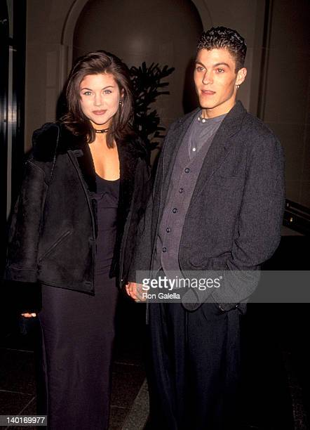 Tiffani Thiessen and Brian Austin Green at the Aaron Spelling's Holiday Party Beverly Wilshire Hotel Beverly Hills