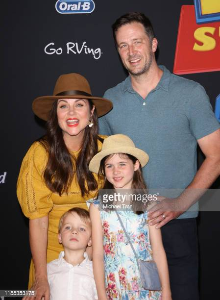 Tiffani Thiessen and family arrive to the Los Angeles premiere of Disney and Pixar's Toy Story 4 held on June 11 2019 in Los Angeles California