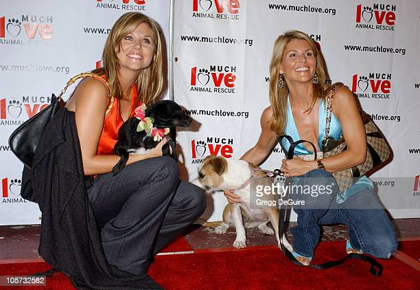 Tiffani Thiessen and Lori Loughlin during 4th Annual Much Love Animal Rescue Celebrity Comedy Benefit Arrivals at The Laugh Factory in Hollywood...
