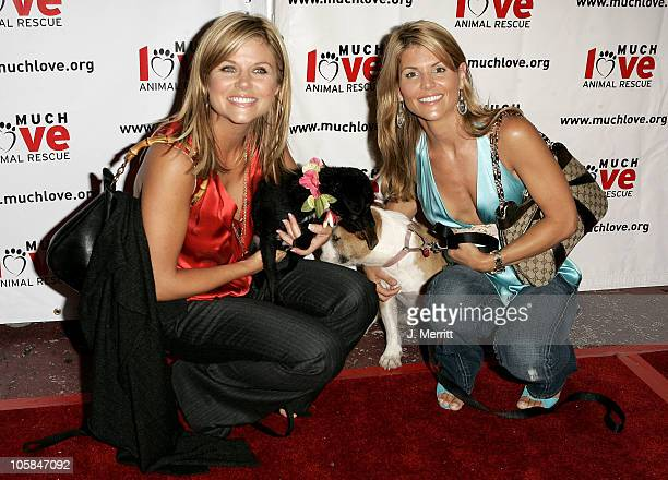 Tiffani Thiessen and Lori Loughlin with Paula and Caroline