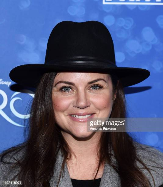 Tiffani Thiessen arrives at the LA Premiere Of Frozen at the Hollywood Pantages Theatre on December 06 2019 in Hollywood California