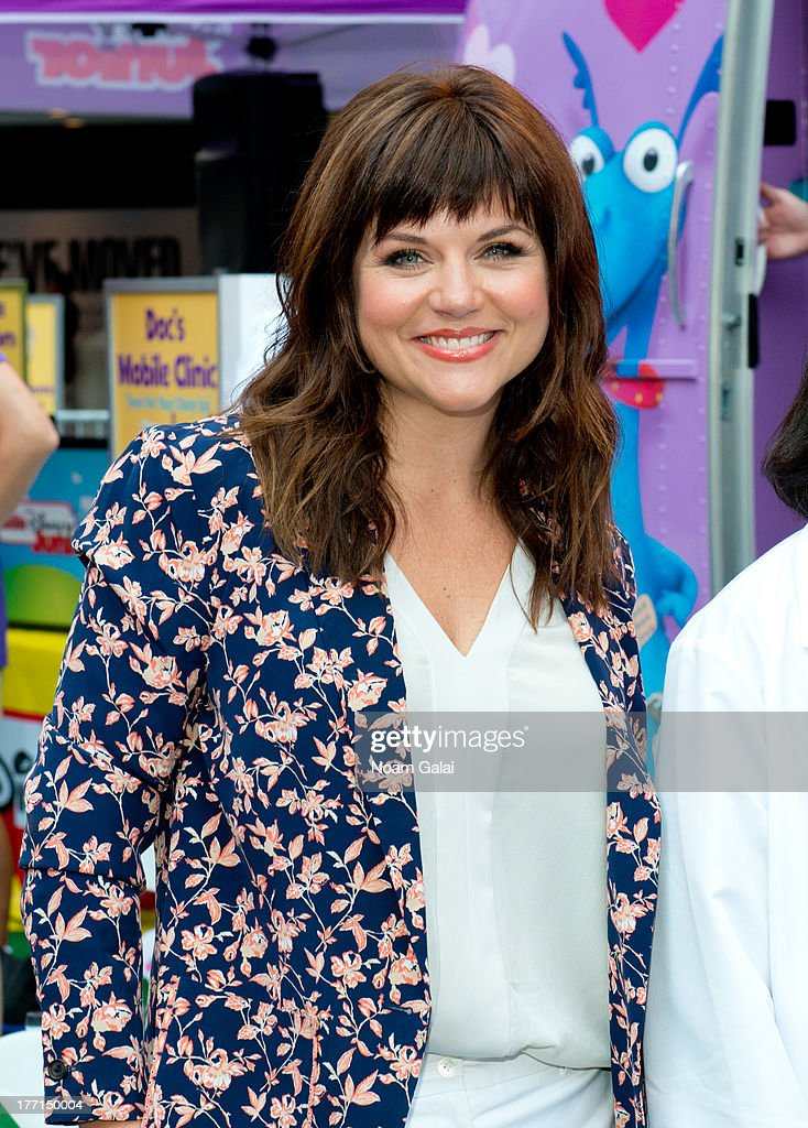 Tiffani Thiessen attends the Doc Mobile Tour at the Disney Store on August 21, 2013 in New York City.