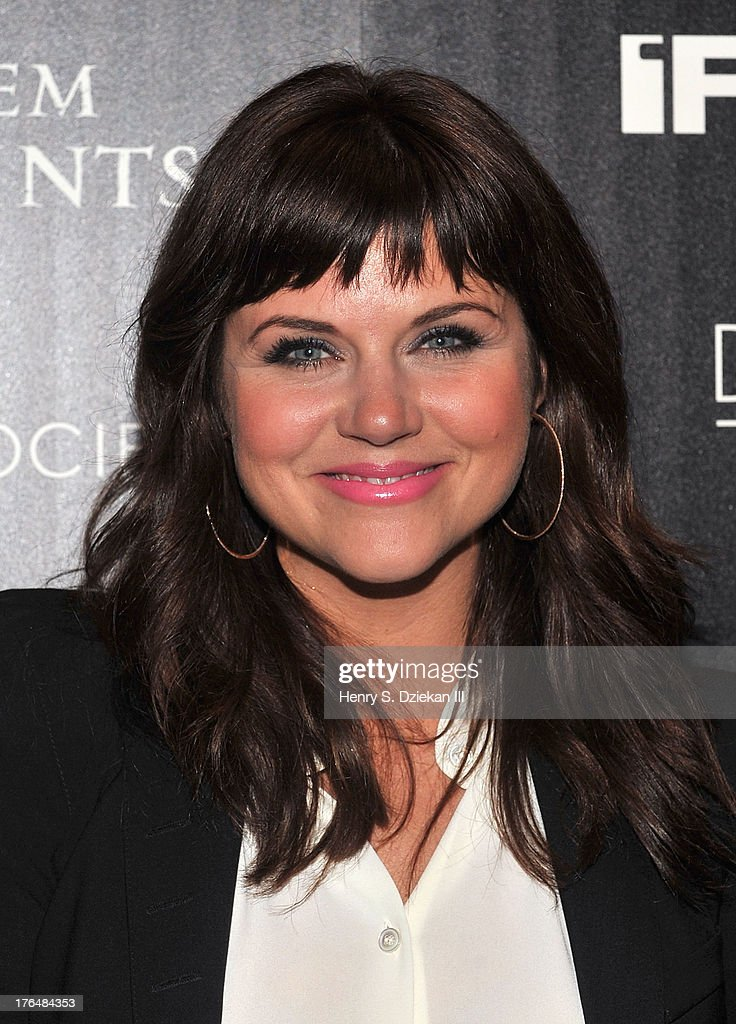 Tiffani Thiessen attends the Downtown Calvin Klein with The Cinema Society screening of IFC Films' 'Ain't Them Bodies Saints' at Museum of Modern Art on August 13, 2013 in New York City.