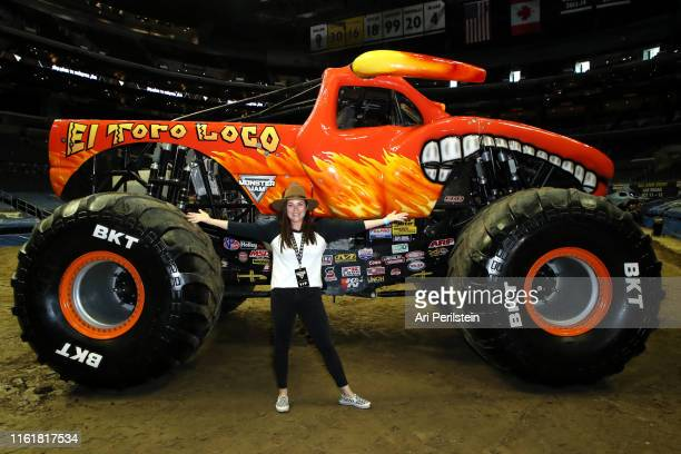 Tiffani Thiessen attends the Monster Jam Celebrity Event at Staples Center on July 13 2019 in Los Angeles California