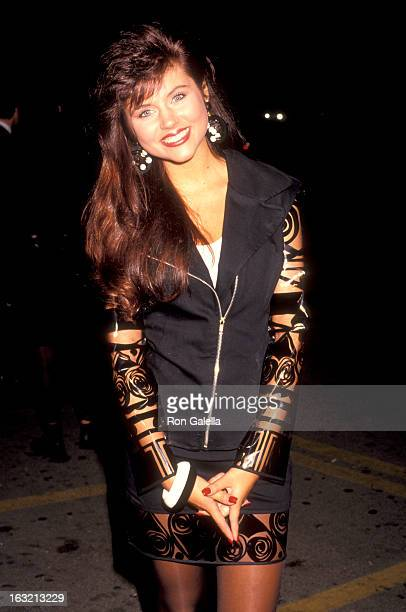 """Tiffani Thiessen attends the premiere of """"Bill & Ted's Bogus Journey"""" on July 11, 1991 at Mann Chinese Theater in Hollywood, California."""