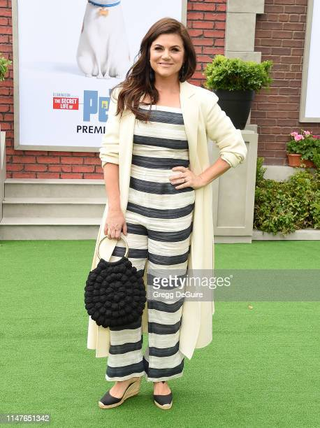 Tiffani Thiessen attends the Premiere Of Universal Pictures' The Secret Life Of Pets 2 at Regency Village Theatre on June 2 2019 in Westwood...