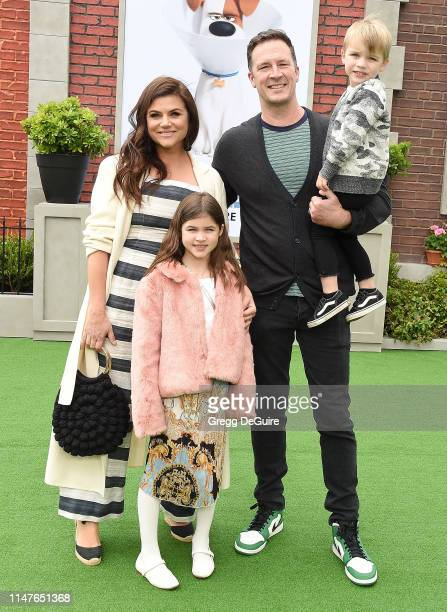 Tiffani Thiessen Brady Smith children Holt Fisher Smith and Harper Renn Smith arrive at the Premiere Of Universal Pictures' The Secret Life Of Pets 2...